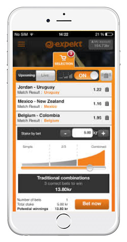 Expekt bettingapp Android
