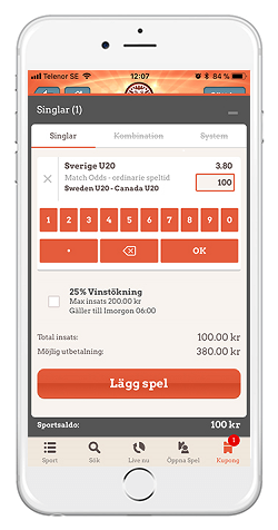 Leovegas app Android